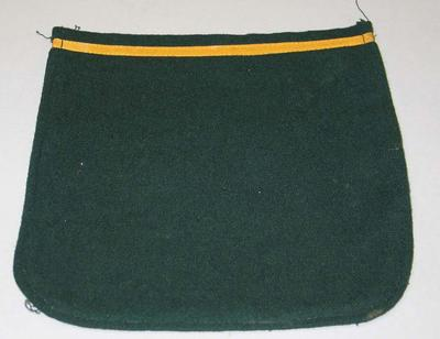 Green blazer pocket with yellow trim, date unknown