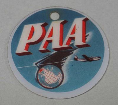 PAA luggage tag, 1956 Melbourne Olympic Games