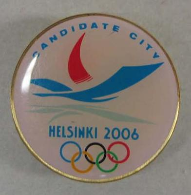 Lapel pin, Helsinki's bid for 2006 Winter Olympic Games