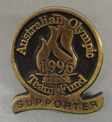 Badge, Australian Olympic Team Fund Supporter - 1996