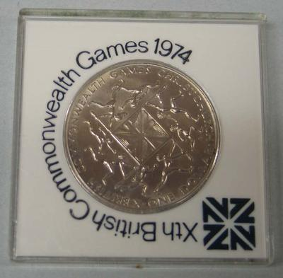 Commemorative coin, Xth British Commonwealth Games 1974