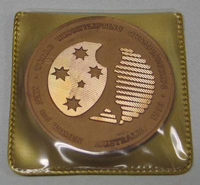 Commemorative coin, World Weightlifting Championships - Melbourne, 1993