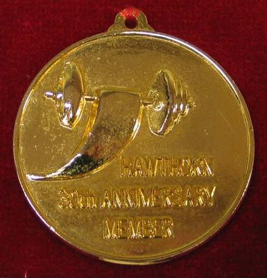 Membership medallion, Hawthorn Weightlifting Club - 30th Anniversary