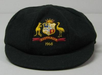 Baggy green cap worn by Alan Connolly during 1968 Ashes series.