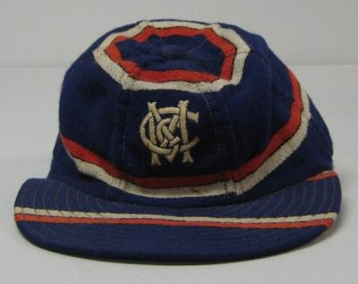 MCC baseball section cap worn by A. Connolly