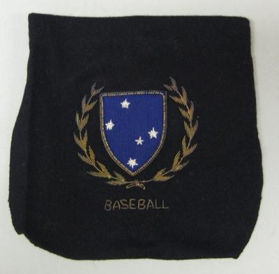 Navy blue wool blazer pocket - Victorian Baseball Association - Alan Connolly collection.