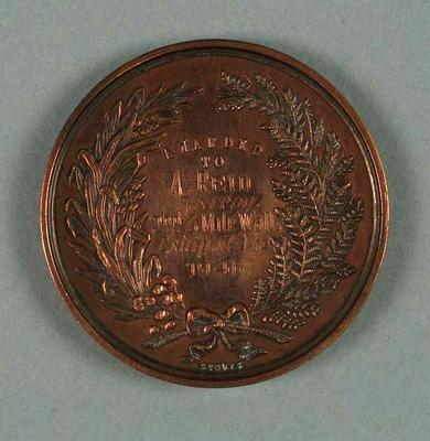 Medal - 2nd Place, 3 Mile Walk Championship of Victoria 1946