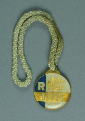 Melbourne Cricket Club restricted membership badge, season 1970/71