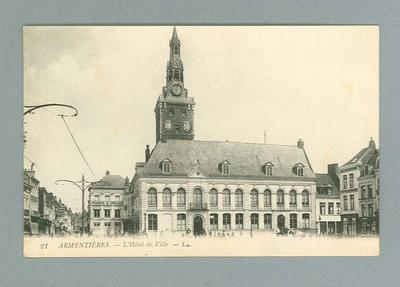 Postcard, image of Armentières