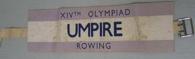 Arm band worn by Ray Todd, 1948 Olympic Games rowing umpire