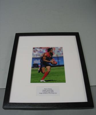 Framed photograph of Aaron Davey, Truscott Cup 2009