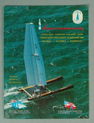 Autographed Programme - Victoria's Little America's Cup at McCrae Yacht Club 21/1/89