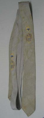 Narrow grey necktie worn by Ray Todd, 1962 British Empire & Commonwealth Games