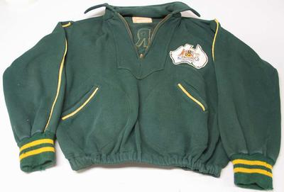 Australian team tracksuit top worn by Ray Todd, 1956 Olympic Games