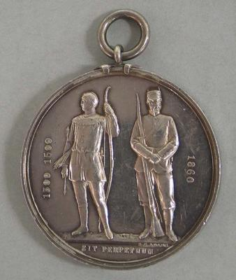 Silver medal, the National Rifle Association 1860, awarded to William Todd