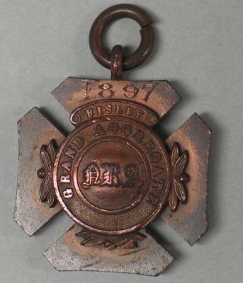 Bronze medallion awarded to William Todd - 1897 Bisley Grand Aggregate NRA