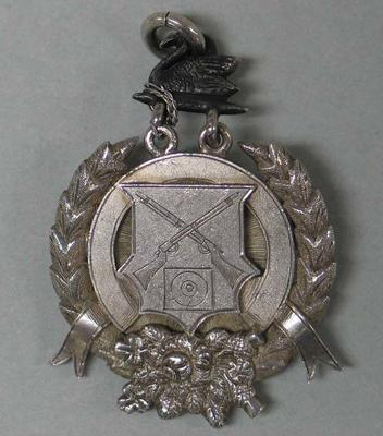 Silver medal, NRA of WA Goldfields Kings Medal, awarded to W. Todd,  1904