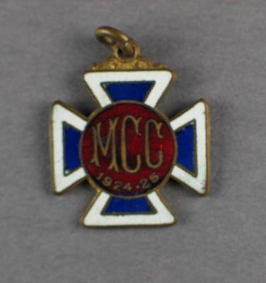 Melbourne Cricket Club membership badge, season 1924/25