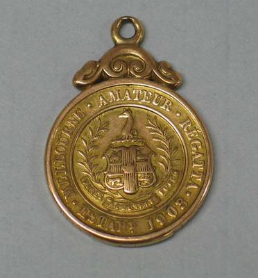 Stewards Challenge Cup medal awarded to rower Ray Todd, Melbourne Amateur Regatta, 1923; Trophies and awards; M16593.52