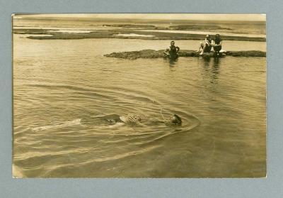 Postcard, image of lifesaving drill at Sorrento - 1913