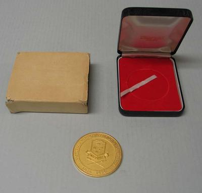 Victorian Rowing Association centenary medal 1876-1976, awarded to Ray Todd; Trophies and awards; M16593.57
