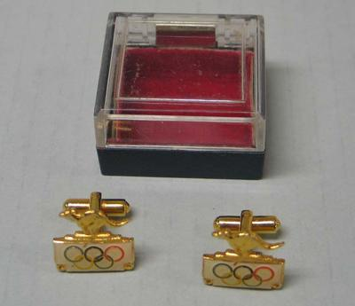 Pair of Olympic Games cuff links, associated with Ray Todd