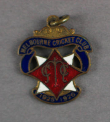 Melbourne Cricket Club membership badge, season 1925/26