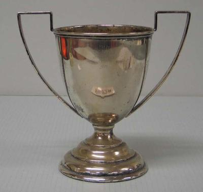 Silver trophy won by Ray Todd, Senior Pairs, Upper Yarra & Albert Park Regattas 1923