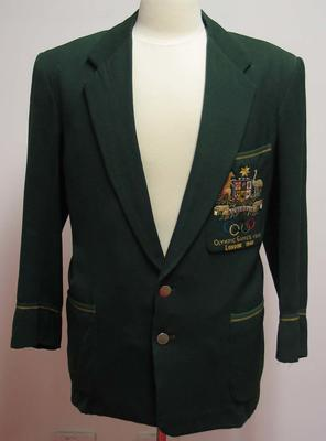 1956 Australian Olympic team blazer worn by Ray Todd.