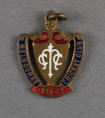 Melbourne Cricket Club membership badge, season 1926/27