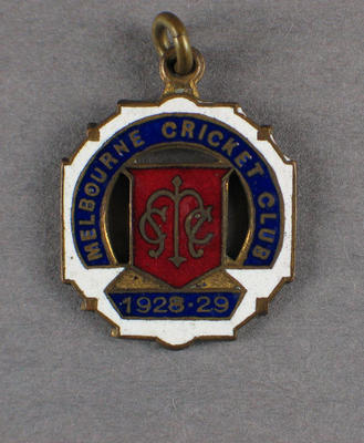 Melbourne Cricket Club membership badge, season 1928/29