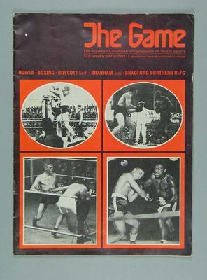 "Magazine, ""The Game: The Marshall Cavendish Encyclopedia of World Sports"" - part 11"