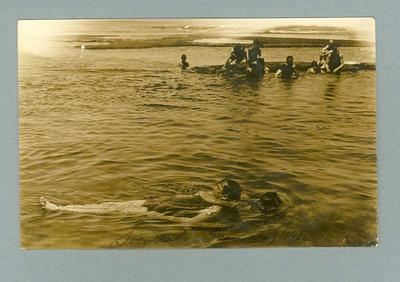 Postcard, image of lifesaving drill at Sorrento - 1913