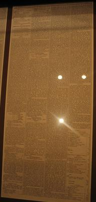 Reproduction newspaper article, details Victoria v Tasmania cricket match - 1852; Documents and books; Documents and books; M16630