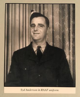 Reproduction photograph, Syd Anderson in RAAF uniform