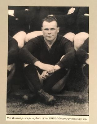 Reproduction photograph, Ron Barassi Snr