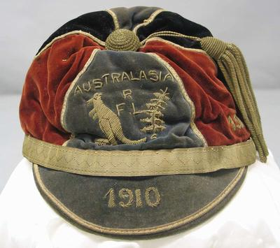 "Australasian Rugby League Honour Cap awarded to Robert Robertson ""Bob"" Craig in 1910."