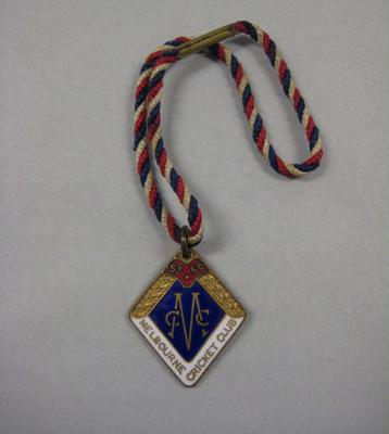 Membership medallion, Melbourne Cricket Club - season 1955/56