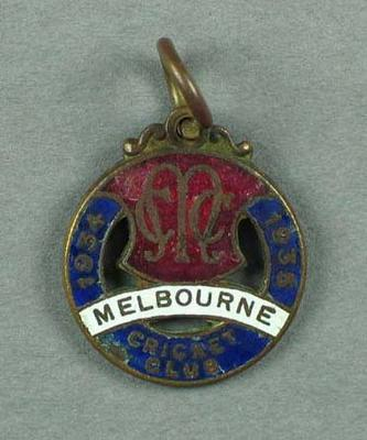 Melbourne Cricket Club membership medallion, 1934-35