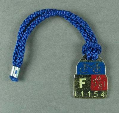 Melbourne Cricket Club membership medallion, season 1980-81