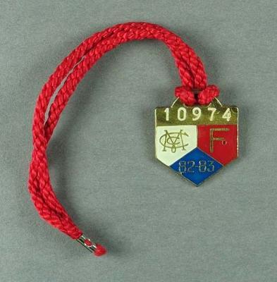 Melbourne Cricket Club membership medallion, season 1982-83
