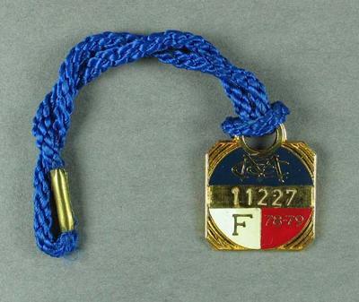 Melbourne Cricket Club membership medallion, season 1978-79