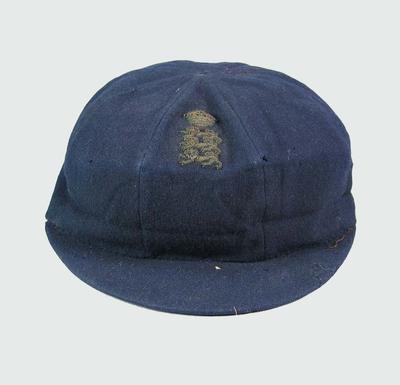 England cricket cap, worn by Wilfred Rhodes c1890