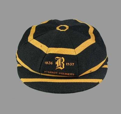 Balmain Cricket Club cap, worn by Richard Nutt 1936-37