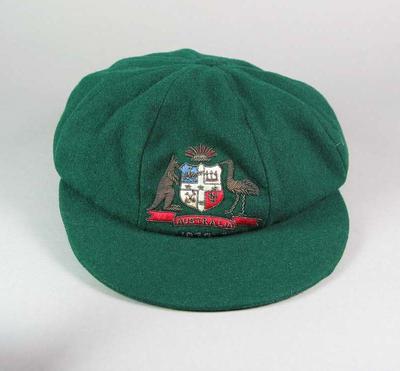 Baggy green cap, worn by Clarrie Grimmett 1932-33