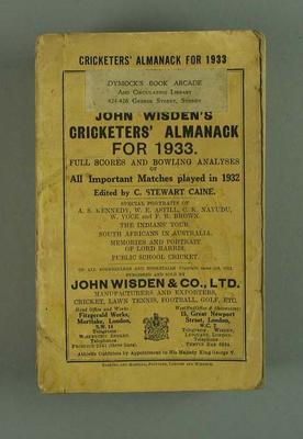 Wisden Cricketers' Almanack, 1933