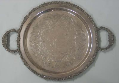 Silver salver presented to Carlton Football Club player Justin Madden as best player of the year, 1991