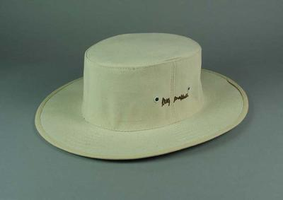 Cricket hat, Albion Greg Chappell brand c1987