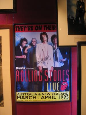 Autographed Rolling Stones promotional poster, c. 1995.