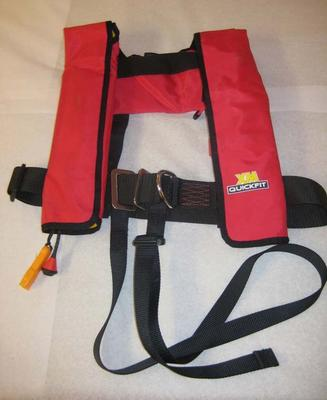 Life jacket used by Jessica Watson on her yacht, 'Ella's Pink Lady' during her solo round-the-world sailing voyage in 2009-10.